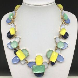 Talbots Yellow Blue Green Rhinestone Necklace